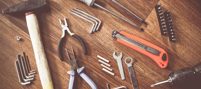Werkzeuge der Fahrraddiebe